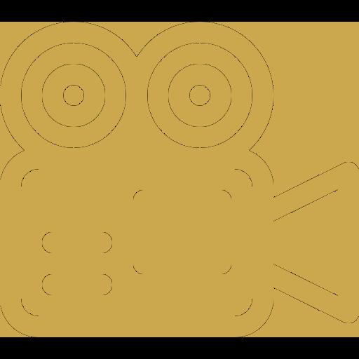 Diensten videografie icoon goud